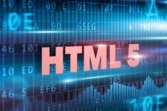 HTML 5 na blackboard Fotografia Royalty Free