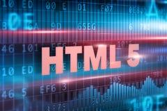 HTML 5 no quadro-negro Imagens de Stock Royalty Free