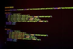 HTML5- och CSS-kod Royaltyfri Bild