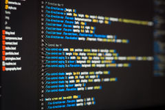 Html- och CSS-kod Royaltyfria Foton