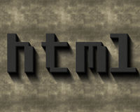 Html-ord Royaltyfria Foton
