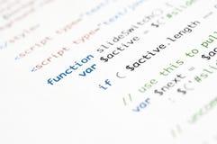 HTML Pismo zdjęcie stock