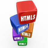 HTML5 Programming Language Online Website Code Development Royalty Free Stock Images