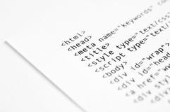 HTML Script Stock Image