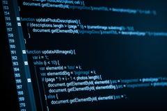 HTML sieci kod Zdjęcia Stock
