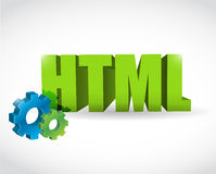 Html sign illustration design Stock Photo