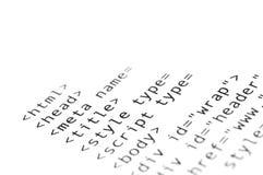 Html-skrift arkivfoto