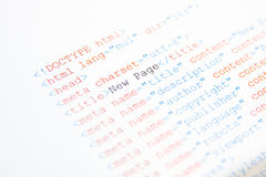 HTML source code Royalty Free Stock Image