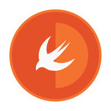 Html5 styled round badge shows swallow Stock Images
