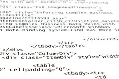 HTML tags Stock Photo