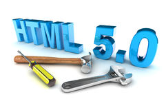 HTML 5 Tools Royalty Free Stock Images