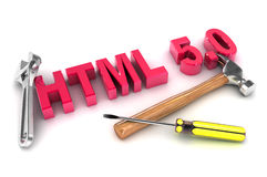 HTML 5 Tools Stock Images