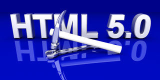 HTML 5.0 Tools Stock Photography