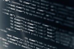 HTML van de Code van de computer Royalty-vrije Stock Afbeeldingen