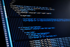 HTML web code Royalty Free Stock Photography