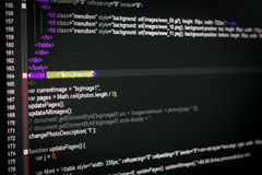 HTML web code Stock Images