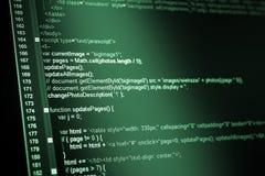HTML web code Stock Photos