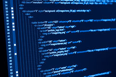 HTML web code Stock Image