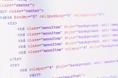 HTML web code Stock Photo