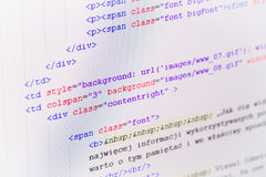 HTML Web Code Stock Photos - Image: 35076223
