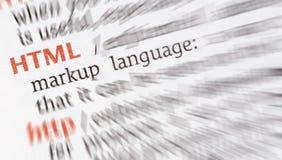 HTML web language Royalty Free Stock Images