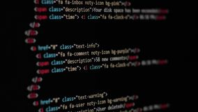 HTML Web Page Code Scrolling Programming code abstract technology background for software developer and Computer script stock video footage
