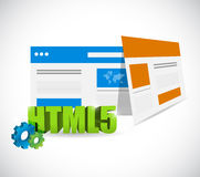 Html5 web templates illustration design Stock Photography