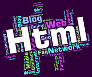Html Word Indicates Hypertext Markup Language And Web Stock Photos