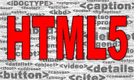 HTML5 Royalty Free Stock Photo
