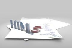 html5 zdjęcie stock
