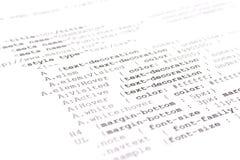 HTMLcode van de programmering Royalty-vrije Stock Afbeeldingen