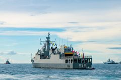 HTMS岸皇家泰国海军巡逻舰的那拉提瓦OPV-512,  库存照片