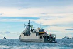 HTMS Narathiwat OPV-512 Z brzeg patrolu naczynia Królewska Tajlandzka marynarka wojenna, zdjęcie stock