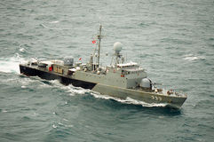 HTMS PHUKET FAC 333. Fast Attack Craft in Royal Thai Navy royalty free stock image