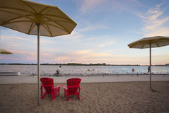 HTO park sunset, Toronto,Ontario,Canada Royalty Free Stock Photo