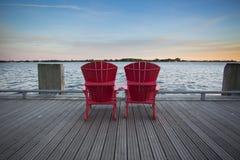 HTO park sunset, Toronto,Ontario,Canada Stock Photos