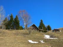 Hütte in den französischen Alpen Stockbild