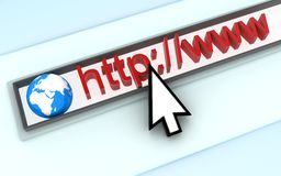 Http. Abstract assress line. (done in 3d Royalty Free Illustration