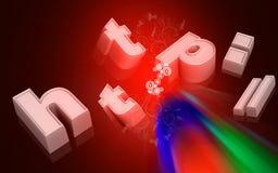 HTTP Imagen de archivo libre de regalías