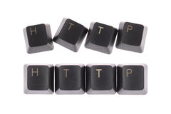 Http. Word formed computer keys spelling Royalty Free Stock Photos