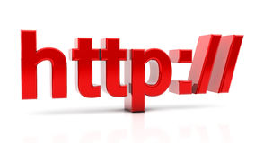 Http in 3d Royalty Free Stock Image