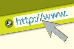 浏览器特写镜头http万维网 免版税库存照片