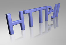 Http. The http in 3d Stock Photo