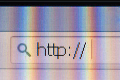 Http address bar browser Stock Photos