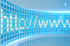 HTTP-Adresse auf digitalem Schirm Stockbild