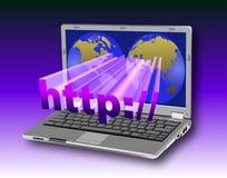 http-bärbar dator Arkivbilder