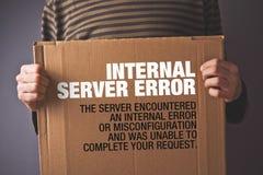Http błąd 500, serweru błędu strony pojęcie Obraz Royalty Free