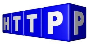 HTTP błękita sześciany Obrazy Stock