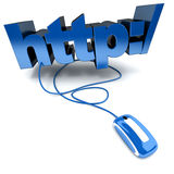 Http in blue Royalty Free Stock Image
