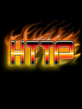 Http burn. Http words are writen at the fire wich shaped by  metal Royalty Free Stock Images